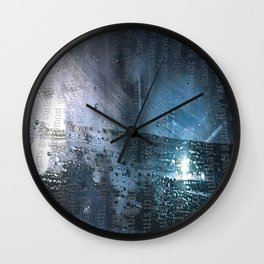 Taking the Evening Train Through Winter Words Wall Clock