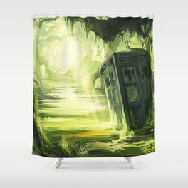 Tardis In The Swamp Shower Curtain