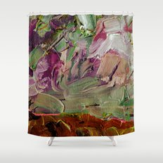 Abstract Purple Green Sky Shower Curtain