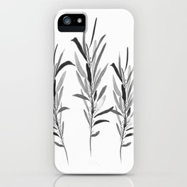 Eucalyptus Branches Black And White iPhone Case