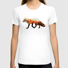Norwegian Woods: The Fox White Womens Fitted Tee SMALL