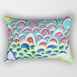 Colorful Doodle Rectangular Pillow