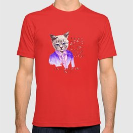 Fashion Mr. Cat Karl Lagerfeld and Chanel T-shirt