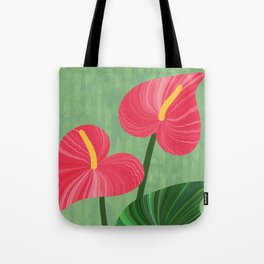 A Pair Of Anthurium Hearts Tote Bag