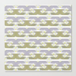 Mix of formal and modern with anemones and stripes 4 Canvas Print