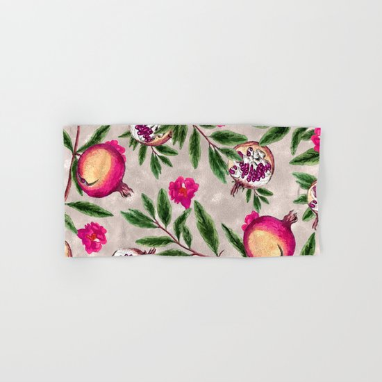Pomegranate Pattern #society6 #decor #buyart Hand & Bath Towel
