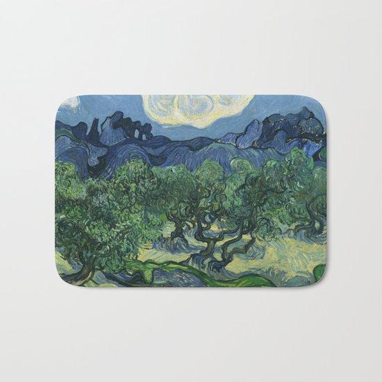 Olive Trees by Vincent van Gogh Bath Mat