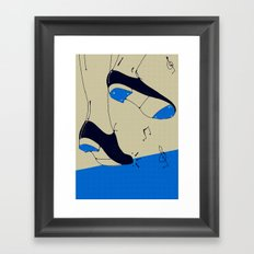 tap dancing  Framed Art Print