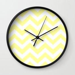 Lemon yellow (Crayola) - yellow color -  Zigzag Chevron Pattern Wall Clock