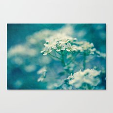little blue and green Canvas Print