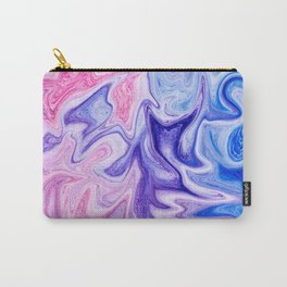 Pink Purple Liquid Marble Carry-All Pouch