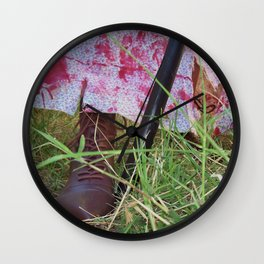 Regency Era Zombie Hunter Wall Clock