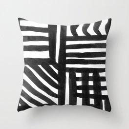Ink Pattern Throw Pillow
