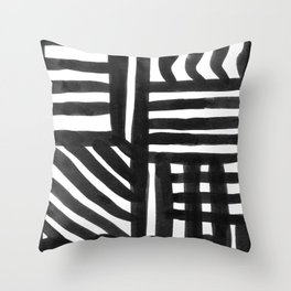 Ink Pattern Throw Pillow