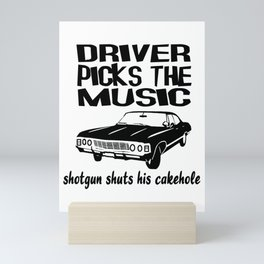 Supernatural Show Driver Picks The Music Mini Art Print