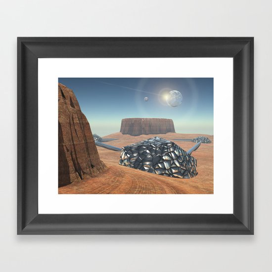 Mars Babylon Colony, view of Armageddon  Framed Art Print