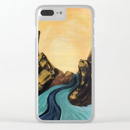 Blue Water Landscape Noelles Art Loft Clear iPhone Case