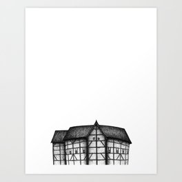 London - Globe Theatre Art Print