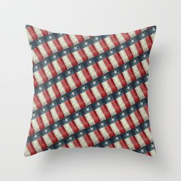 Vintage Texas flag pattern Throw Pillow