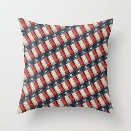 Vintage Texas flag pattern Throw Pillow