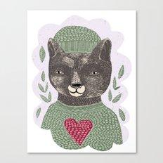 Bear Heart Canvas Print