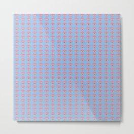 Rainbow Eyes Pattern - Tiny Medium Blue Metal Print