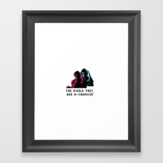 The pixels they are a changin' Framed Art Print