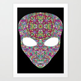Rainbow Alien Art Print