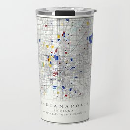 Indianapolis map poster print wall art | Indiana gift  | Modern map decor Travel Mug