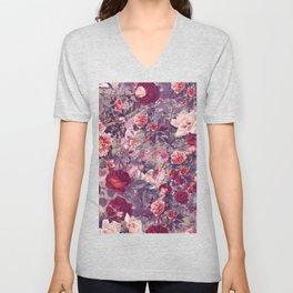 Flowery frame Unisex V-Neck