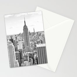 New York City, Manhattan (Black & White) Stationery Cards