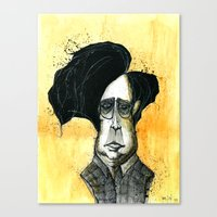 tim burton Canvas Prints featuring Tim Burton by JonasHviid