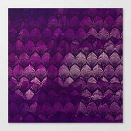 Variations on a Feather II - Purple Haze  Canvas Print