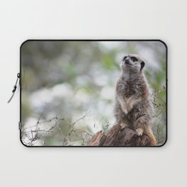 Meerkat on guard duty Laptop Sleeve