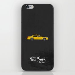 """This is New York for me. """"Cab"""" iPhone Skin"""
