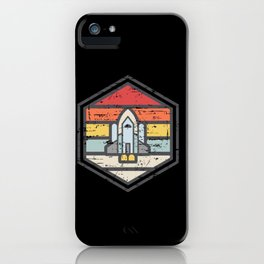 Retro Badge Space Shuttle Light iPhone Case