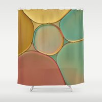 stained glass Shower Curtains featuring 'Stained Glass' by Cora Niele