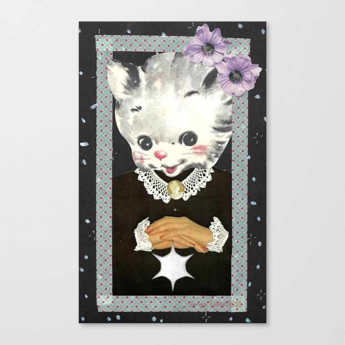 Collar and Cuffs handcut collage Canvas Print