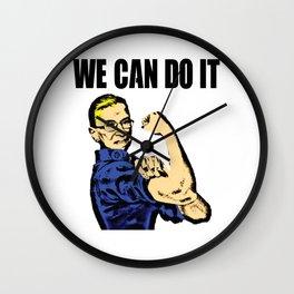Notorious RBG Ruth Bader Ginsburg We Can Do It Pop Art Wall Clock