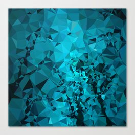Teal Geometric Pattern Canvas Print
