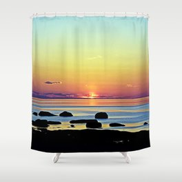 Summer's Glow Shower Curtain