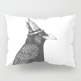 Willem Dacrowe Crow Wearing a Witch's Hat Pillow Sham