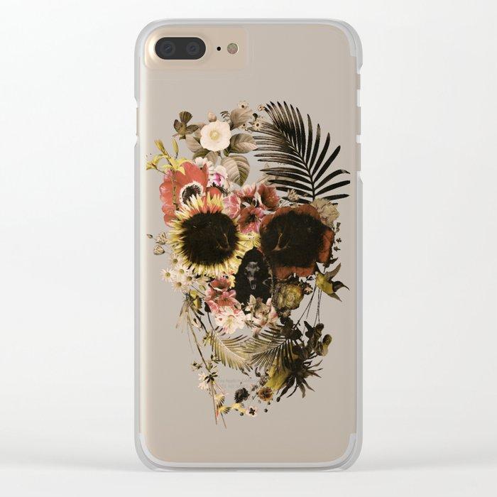 Garden Skull Light Clear iPhone Case