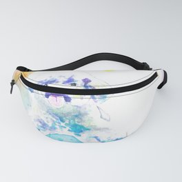 Dog Lovers Colorful Watercolor Fanny Pack