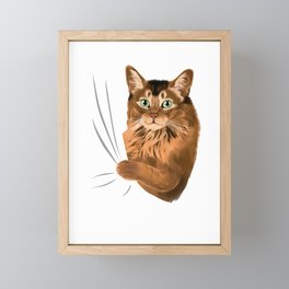 Somali Cat  Framed Mini Art Print