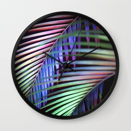 aciiid palm multi colored  Wall Clock