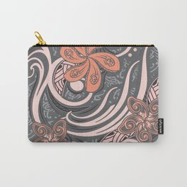 Polynesian Pink Tribal Print Carry-All Pouch