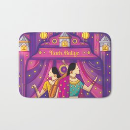 Indian Wedding Sangeet Dance Bath Mat