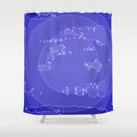 agate Shower Curtains featuring Agate by Audrey Erickson