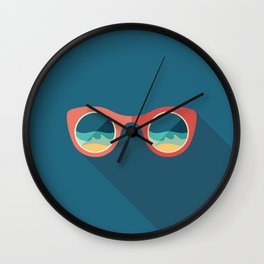 Sunglasses with Reflection of Sea Wall Clock